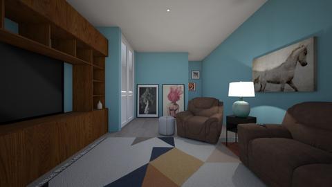 basement WIP - Modern - Living room - by LaurenLakin