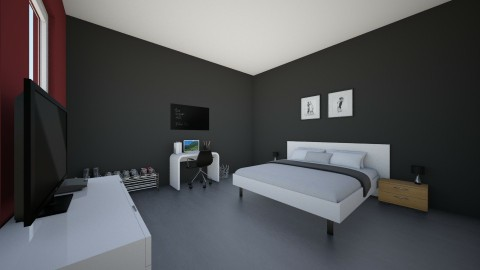 Dorm room 1 - Modern - Bedroom - by Simon Hogewerf
