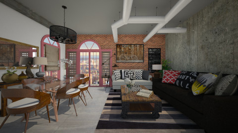 loft modern - Living room - by Joseph Espinoza