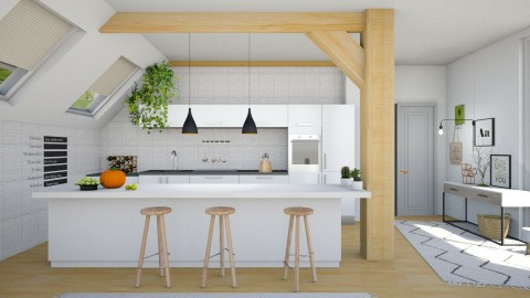 Attic Kitchen - by ariema
