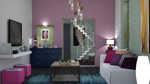 fun colors - Living room - by suzzie_tiria