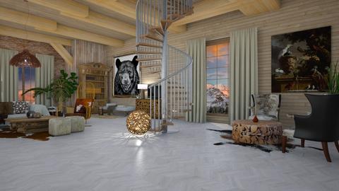 Aspen Chalet Template - Rustic - Living room - by natasa mihajlovic
