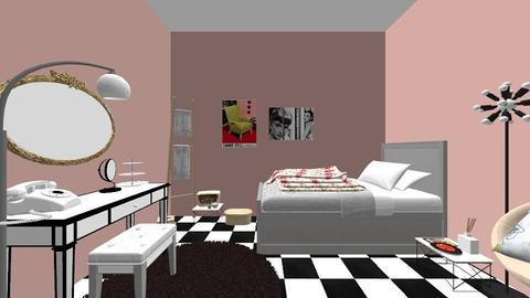 50s dorm room  - Retro - Bedroom - by rebeccamoravec