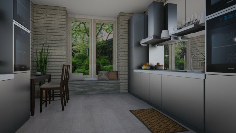 Suburb Kitchen - Rustic - Kitchen - by stephendesign