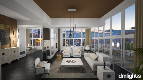 Chicago View - Glamour - Living room - by DMLights-user-982267