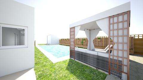 new home pool area - Country - Garden - by Stephanie Felix