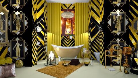 art deco bat - Bathroom - by nat mi