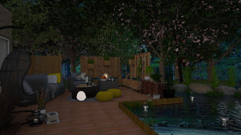 Sunrise - Garden - by juliavalerie