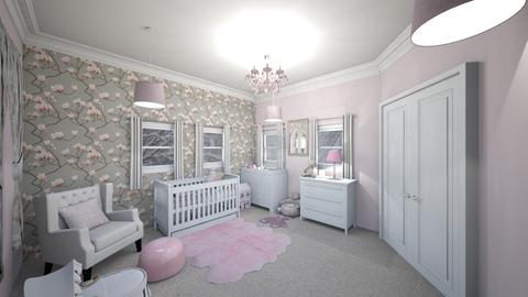 Girl Nursery - Modern - Kids room - by UloveTashi Designs