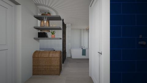 Eve blue bathroom - Bathroom - by ellenrice