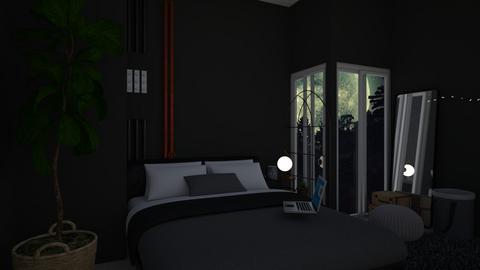 Black Bedroom - Bedroom - by loveto6