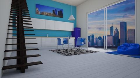 blue kitchen - Kitchen - by thompsoni