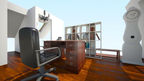 antique attic office - Vintage - Office - by samijaden