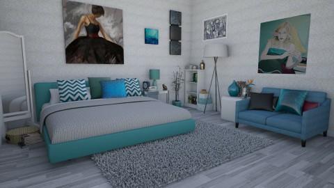 Blue lagoon - Bedroom - by Ecaterina Harina