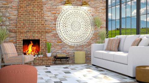 Brick Fireplace - Living room - by millerfam