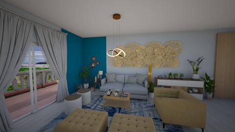 sala com flores - Living room - by Tainaraa