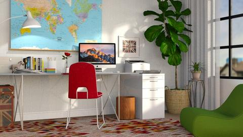 Eclectic Office - Office - by GraceKathryn