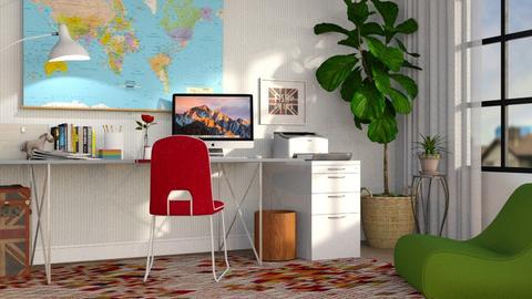 Eclectic Office - Office - by GraceKathryn
