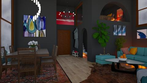 blue orange - Living room - by penelopy
