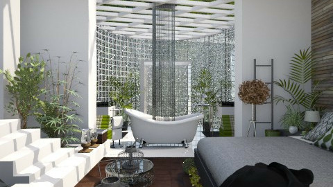 JungleHotelRoom - Bedroom - by StienAerts