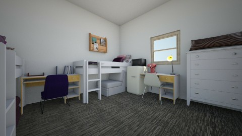 Dorm Room - Bedroom - by triplem27