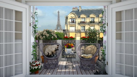 Balcony in Paris - Classic - Garden - by maja97