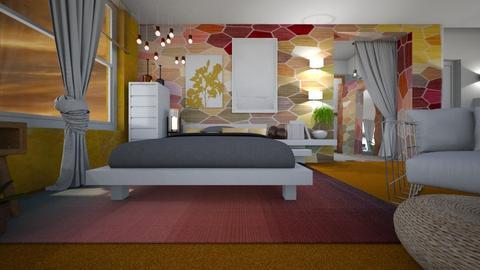 Orange Carpet - Living room - by ana111