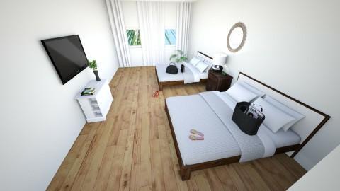 Hotel Bedroom - Bedroom - by mjjjj_01