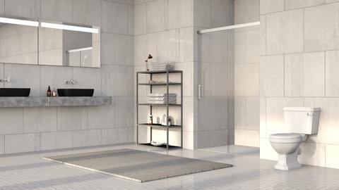 Gray Stone Bathroom - Minimal - Bathroom - by millerfam