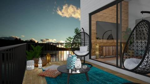 deck and pond  - by cp_interiors