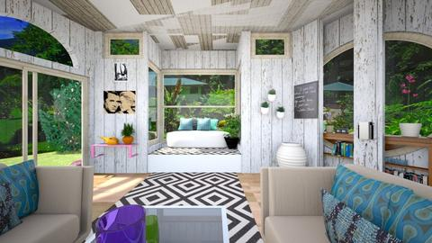 Pretty Lit Room  - Eclectic - Living room - by timeandplace