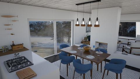boathouse open plan - Living room - by mctkerr