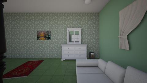 BEDROOM DESIGN IN GREEN - Modern - Bedroom - by wadaaa06