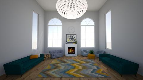 NJ two story - Living room - by hannah136