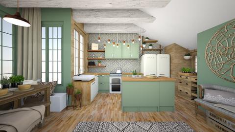 BOHO kitchen - Kitchen - by Rebekah Pincock
