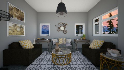 Industrial Living  - Living room - by Raquel Collison