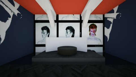 david bowie - Bedroom - by KatieBowes