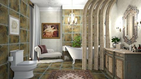 Bath Time II - Vintage - Bathroom - by DeborahArmelin