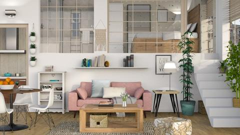 One Room Apartment 5 - Living room - by Sally Simpson