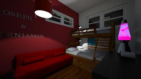 Twin Boys Bedroom 2 - Bedroom - by SammyJPili