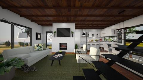 Contemporary Farmhouse - Living room - by GraceKathryn