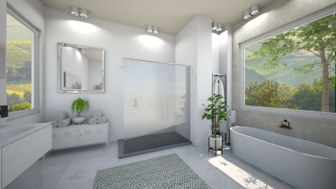 Calm - Classic - Bathroom - by Ali Ruth