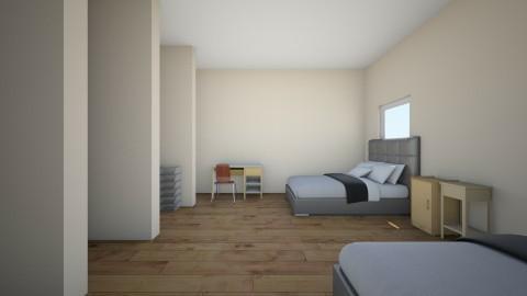 unfinished dorm room - by kmvbird