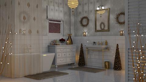 Christmas Bath - Bathroom - by GraceKathryn