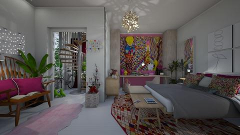 Playful Bedroom - by Themis Aline Calcavecchia