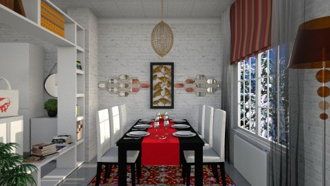M_D - Dining room - by milyca8