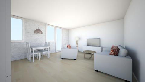 juustyna biala cegla - Minimal - Living room - by juustyna