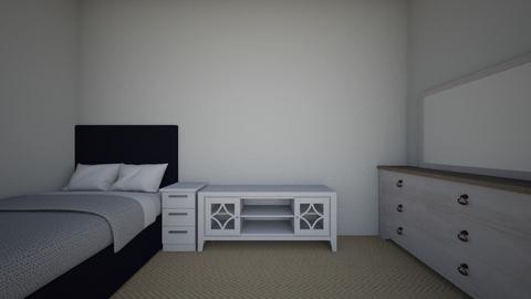 My room - Minimal - Bedroom - by sasiphat  temna