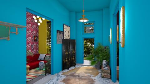 Boho maximalist entrance - Eclectic - by Lyske Imagines Homes