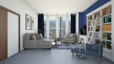 comfort in the city - Living room - by stephaniedelios1992